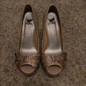 Tan 4 inch heels